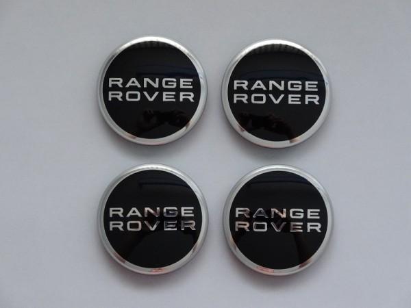 Radnabenabdeckung Range Rover - schwarz, Set, 4-teilig