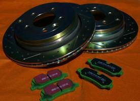 Komplettset 4 x Bremsscheiben und Bremsbeläge