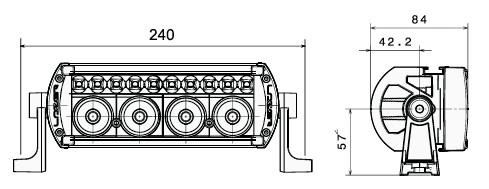 Lazer Lamps Fernscheinwerfer ST-4