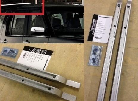 Land Rover Dachreling kurz silber