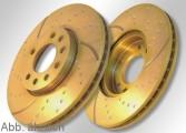 EBC-TurboGroove Bremsscheibensatz Gold D4 hinten