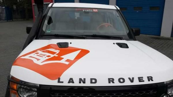 Land Rover Schriftzug Motorhaube Chrom oder schwarz glanz